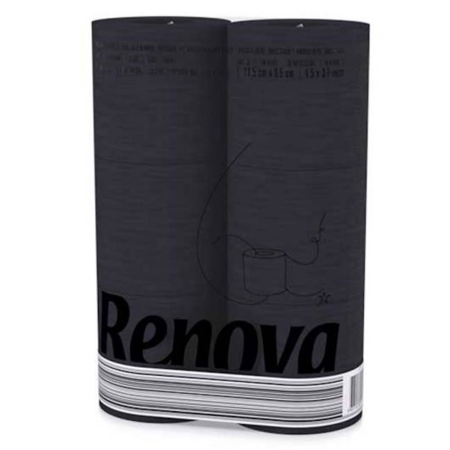BLACK Toilet Paper |6 roll pk