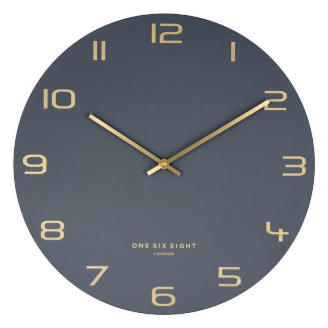 Blake Charcoal 40cm SILENT Wall Clock