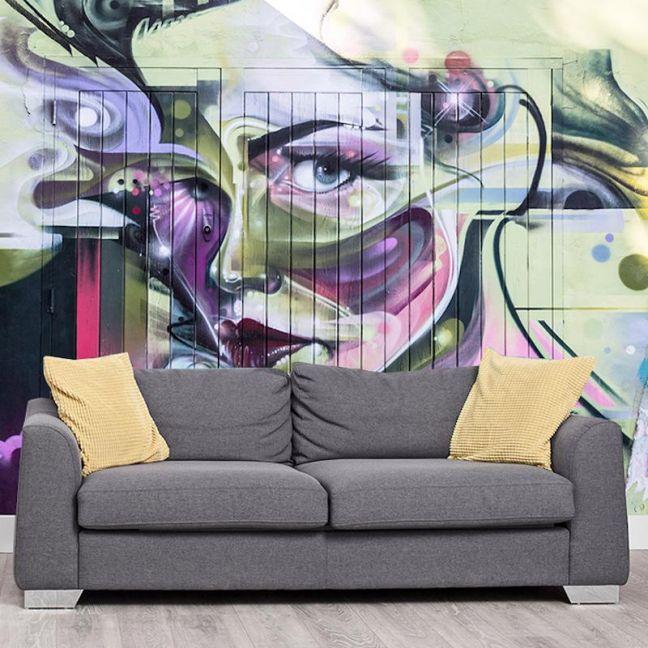 Blonde Bombshell | Full Wall Mural