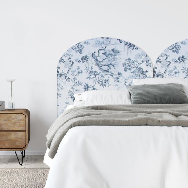 Blossom Palace Velvet Upholstered Bedhead | All Sizes | Custom Made by Martini Furniture