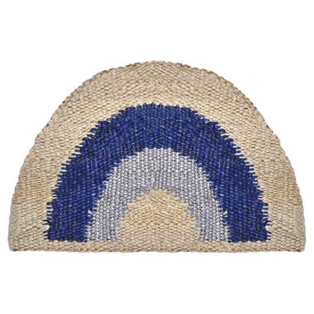 Blue and Silver Rainbow Doormat