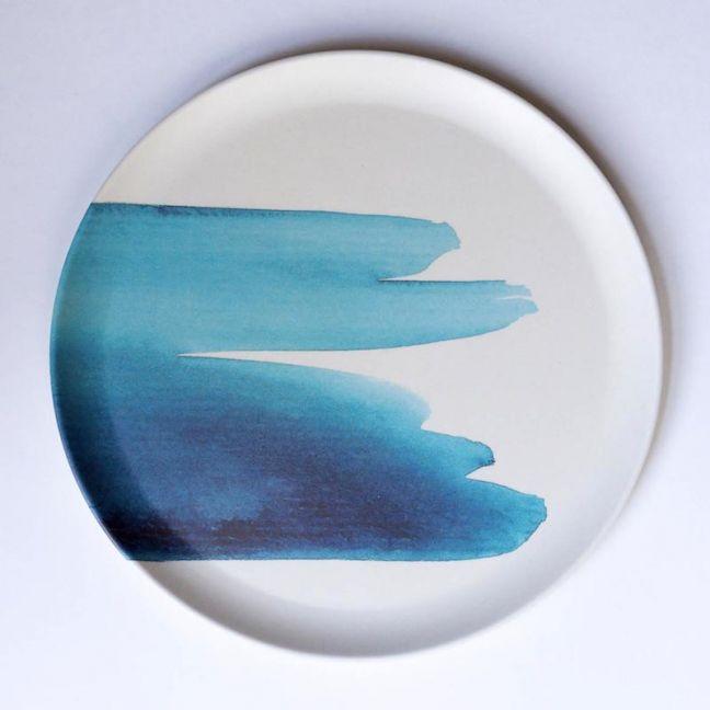 Blue  Wave Plate | Emilie O'Connor Homestore