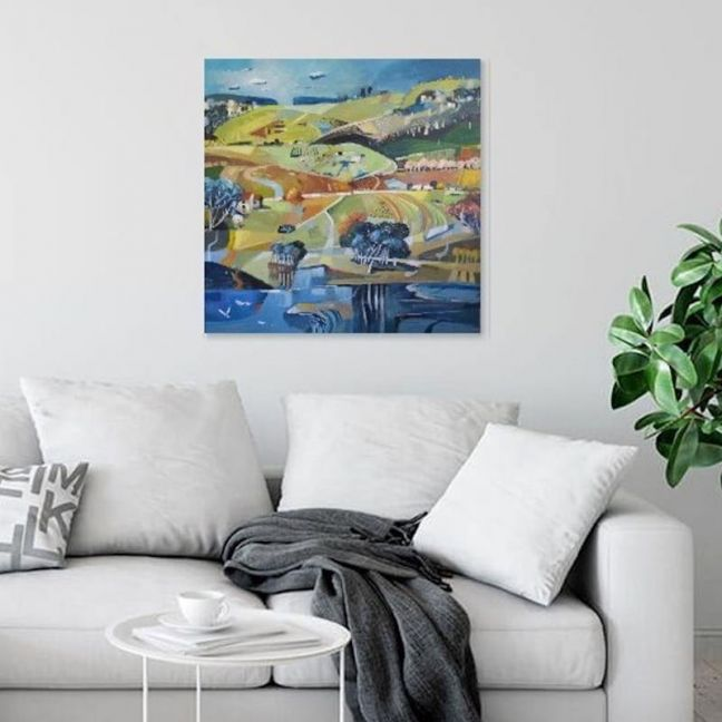 Bluethumb Original  Abstract Landscape   Patchwork Hills by Susan Trudinger