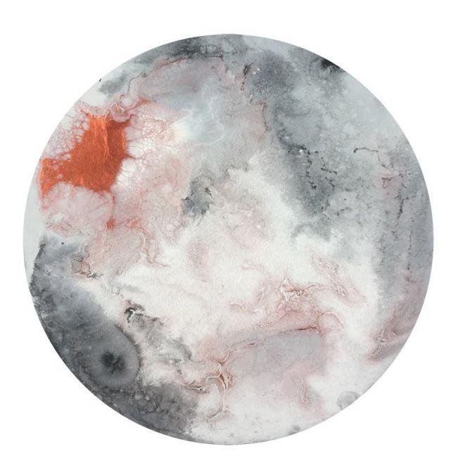 Blush Moon Circle Print
