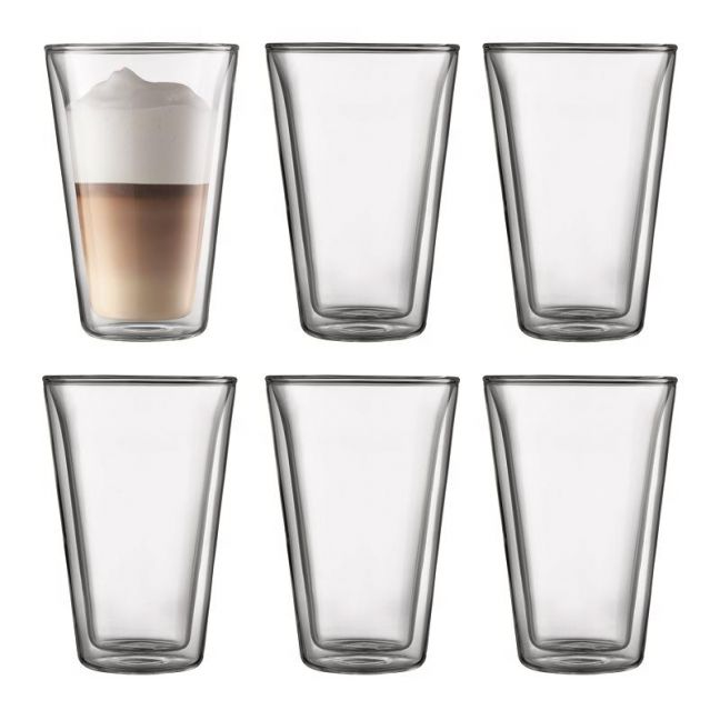 Bodum Canteen | 6 pcs Glass | Large 0.4 l, 13.5 oz