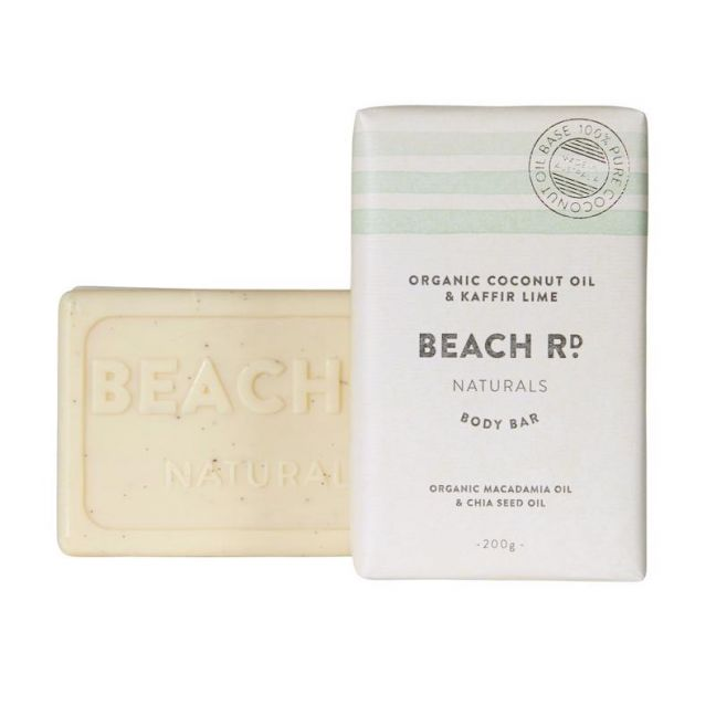 Body Bar | Organic Coconut Oil & Kaffir Lime | 200g | by Beach Road Naturals