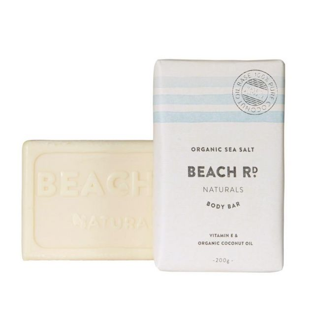 Body Bar | Organic Sea Salt | 200g| by Beach Road Naturals