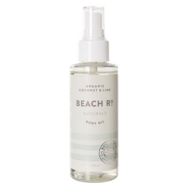 Body Oil | Organic Coconut & Lime | 125ml | by Beach Road Naturals