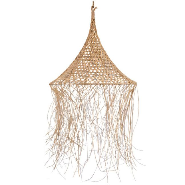 Boho Rattan Pendant | by Raw Decor
