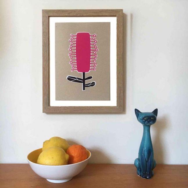 Bottlebrush A4 Art Print | Unframed