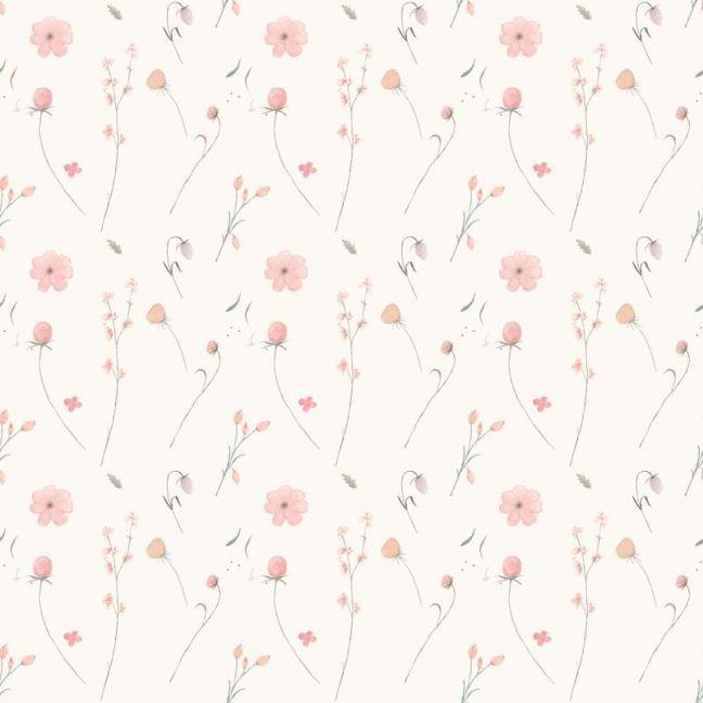 Bouquet Cream Wallpaper