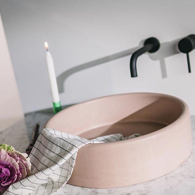 Bowl Sink by Nood Co | Blush Pink
