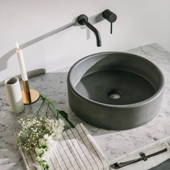Bowl Sink by Nood Co | Charcoal