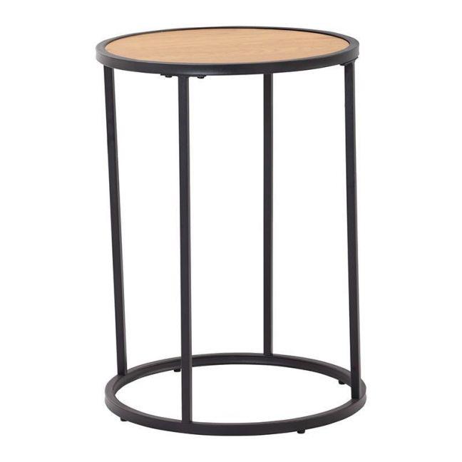 Bradford Side Table | 40cm  | Natural & Black