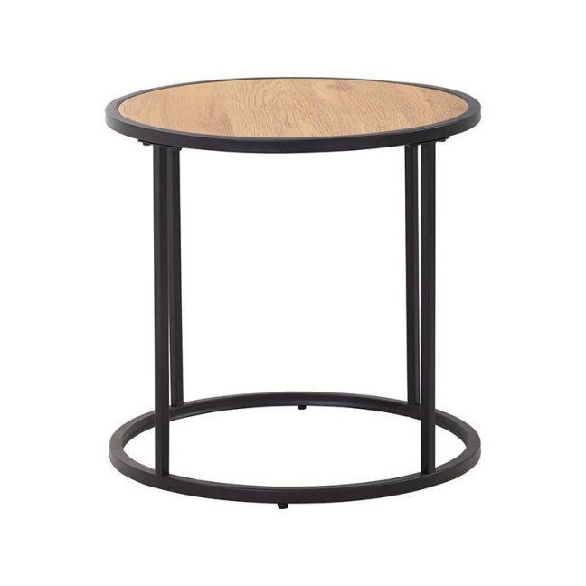 Bradford Side Table   45cm   Natural & Black