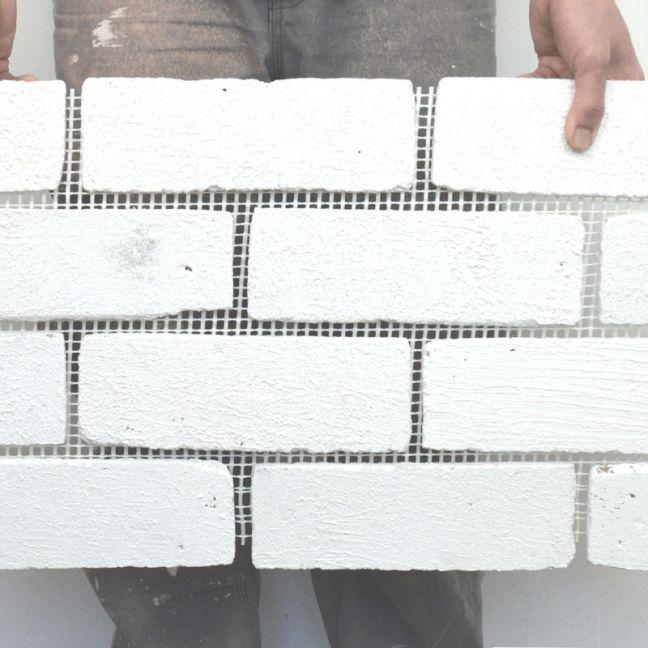 Brick Facings on Mesh | Traditional Limewash | by Briclad