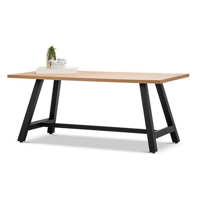 Brooklyn Dining Table | Natural Oak & Black