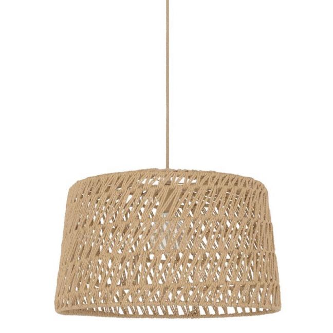 Byron 1 Light Large Pendant Natural Weave | By Beacon Lighting