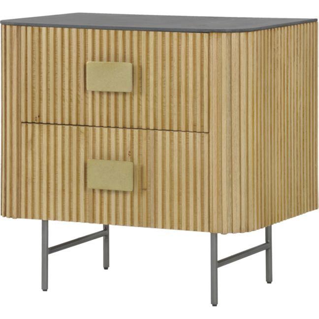 Calissa Bedside Table | Natural Oak | Schots | Preorder