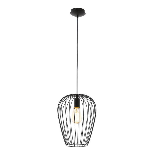 Callam 1 Light Medium Pendant in Black