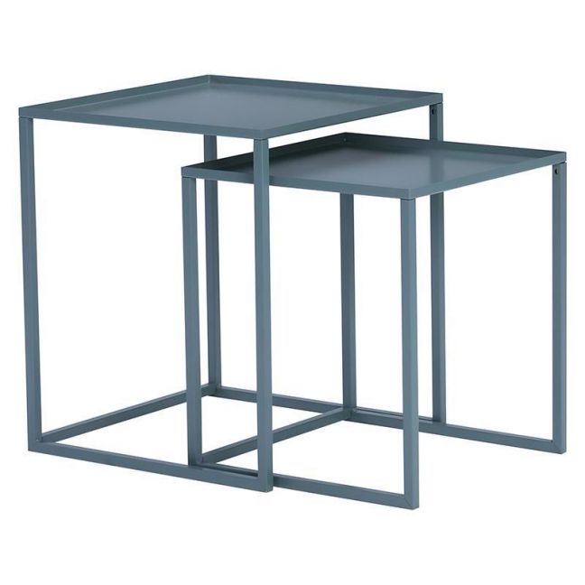 CARIAD Nest of 2 Tables Square | Grey Colour