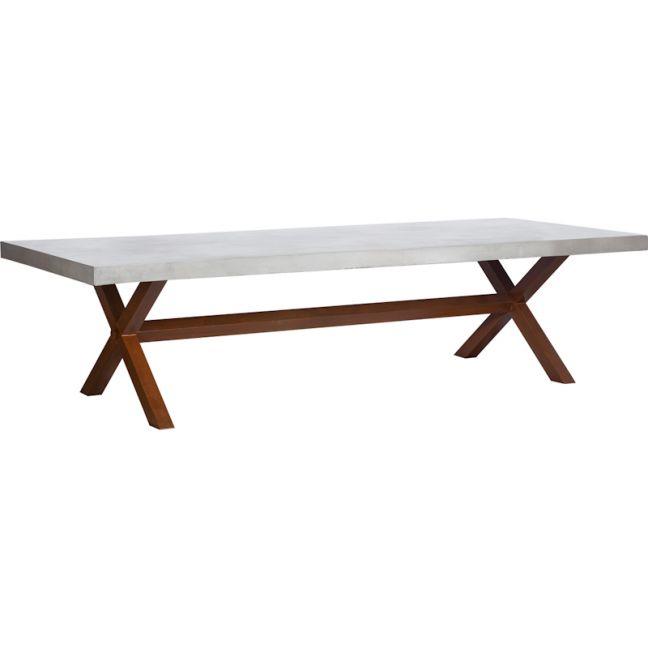 Castello 300cm Concrete Dining Table | Rust Legs | Schots