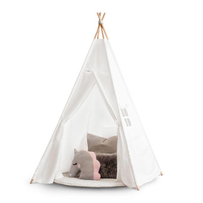 Cattywampus Kids Teepee Tent   White