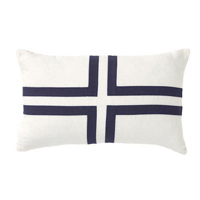 Cayman Cross Rectangular Linen Cushion | CLU Living