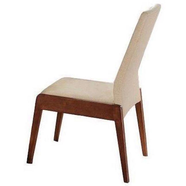 Cella Dining Chair | Walnut + Beige | Modern Furniture