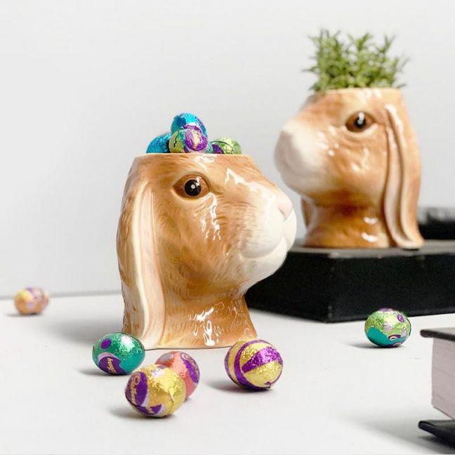 Ceramic Planter | Bunny | White Moose