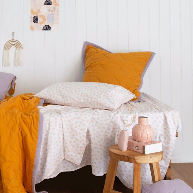 Chambray | Quilted Euro Pillowcase | More Than Ever