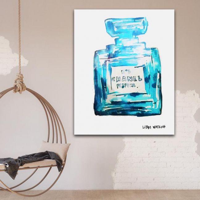 Chanel Ink | Palm Deep Cyan Inks by Libby Watkins
