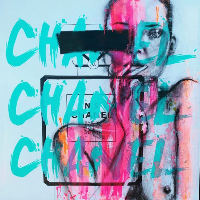 Chanel Love   Original Artwork on Canvas