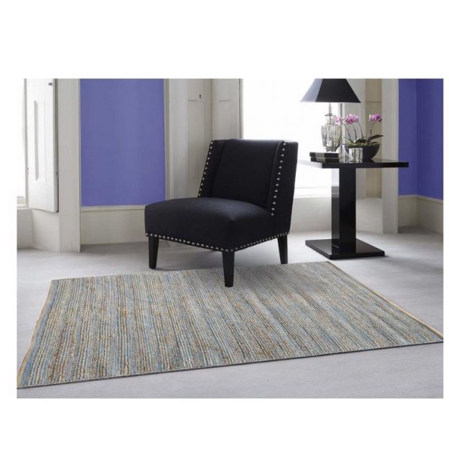 Charm Natural Blue | Handwoven Jute Rug | Various Sizes