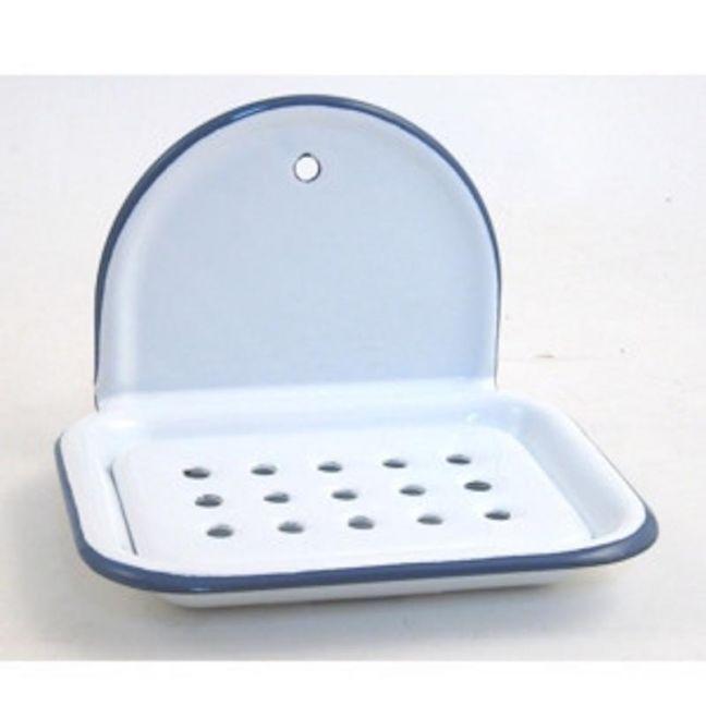 Classic Crescent Top Enamel Soap Dish