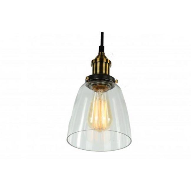 Clear Glass Cloche Filament Pendant Light
