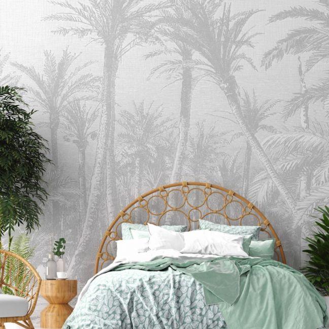 Coastal Palm – Grey   WALLPAPER