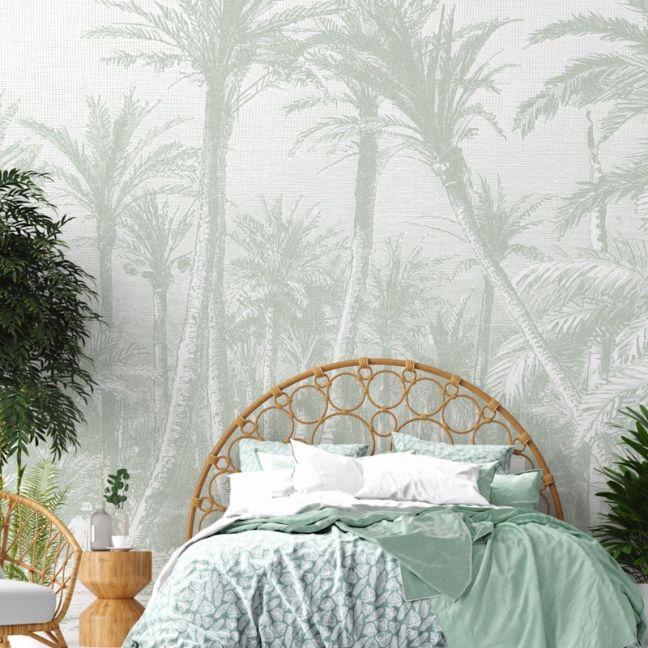 Coastal Palm – Sage Green | WALLPAPER