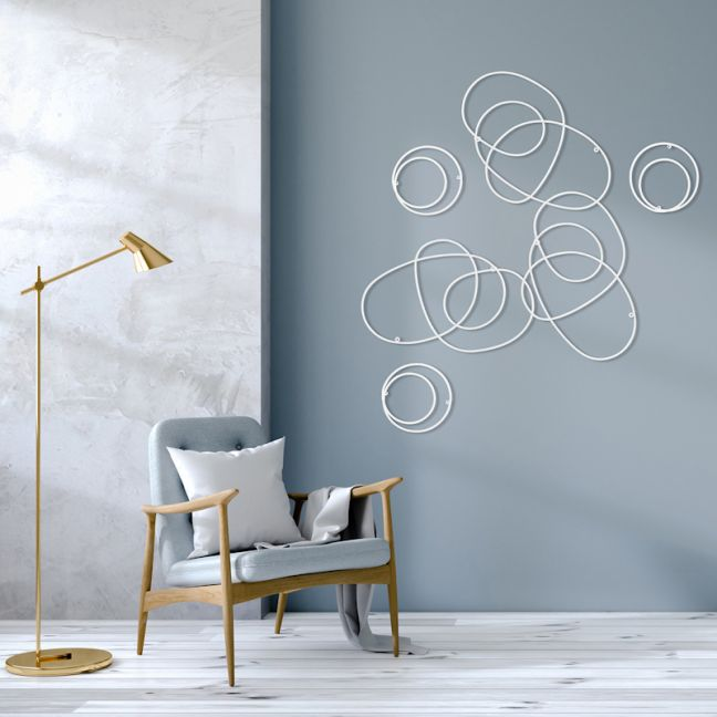 Coil Wall Sculpture   White