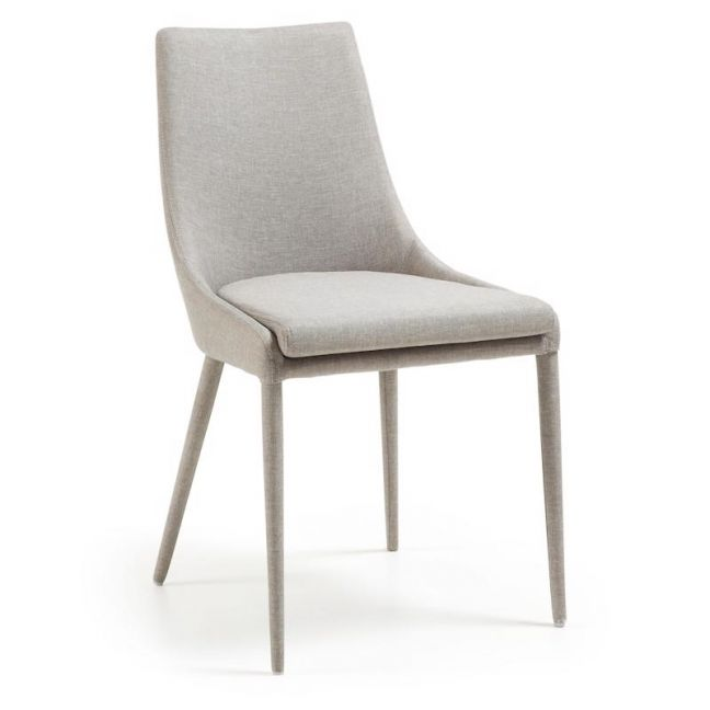 Cole Fabric Dining Chair | Light Grey