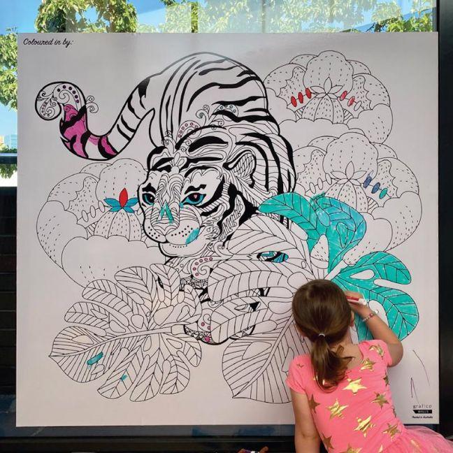 Colour Me Whiteboard Wallpaper Print
