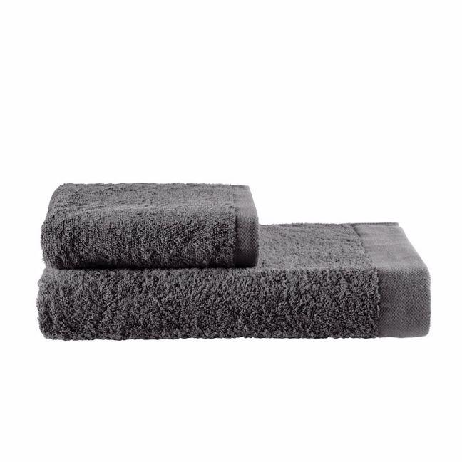 Como Cotton Towels by KAS Australia | Charcoal