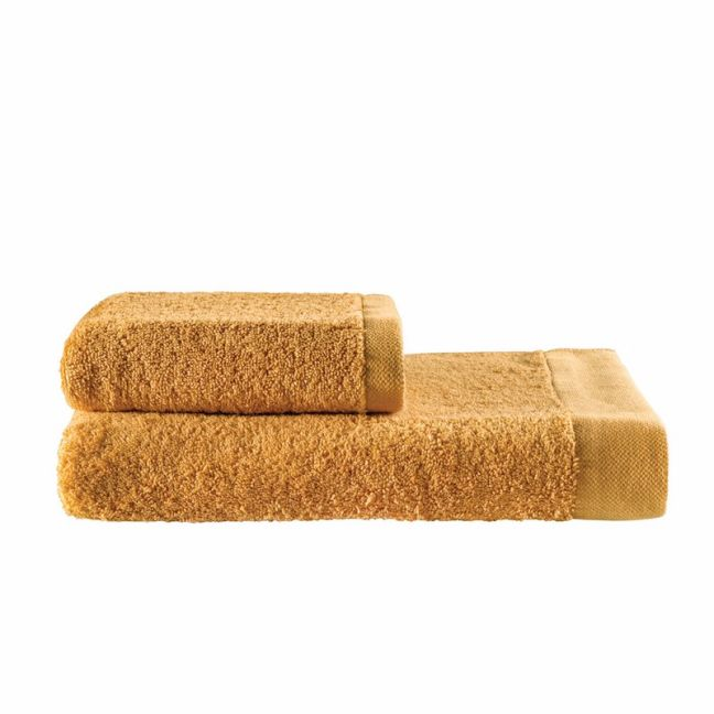 Como Cotton Towels by KAS Australia | Mustard