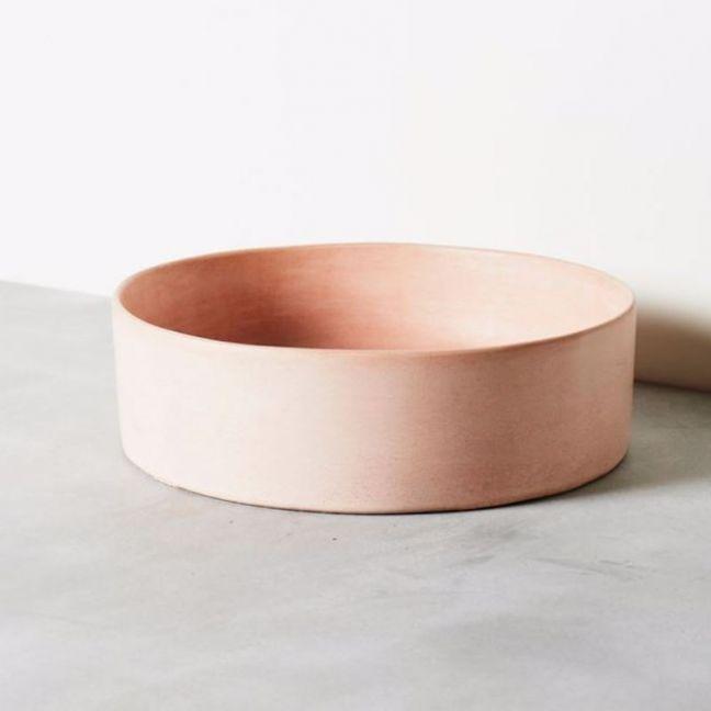 Concrete Basin | Round | Dusty Pink