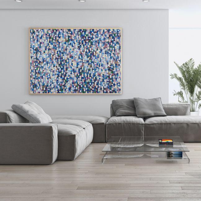 Confetti Rain 2A0 Limited Edition Unstretched Canvas Print