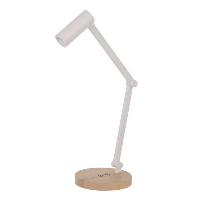Connor White LED Table Lamp with Wireless Phone Charger | By Beacon Lighting