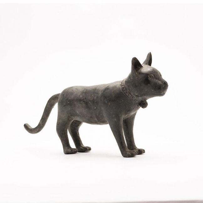 Contemporary Cast Bronze Cat