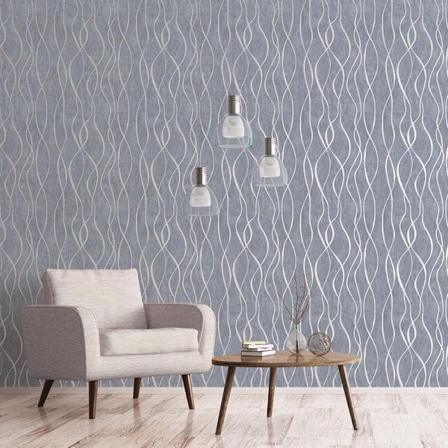 Contemporary Swirl Ribbon Special FX Wallpaper