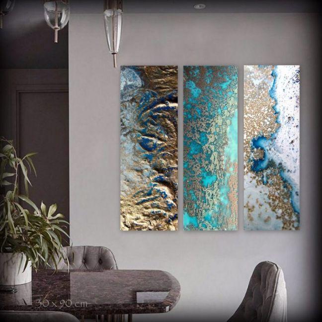 Coral Snibits by Petra Meikle De Vlas | Ltd. Edition Triptych Prints | Art Lovers Australia