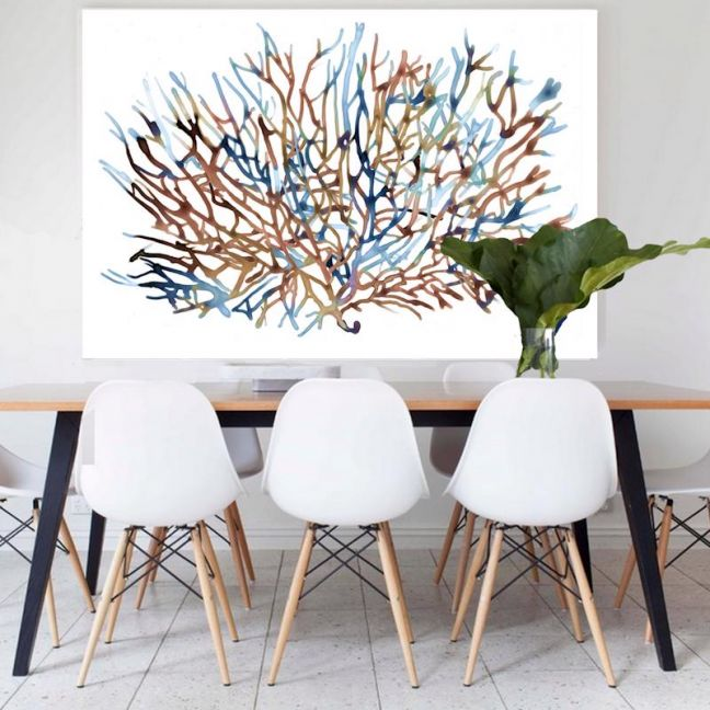 Coral Water   Canvas Art